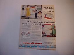 1953 KELVINATOR  Upright/Chest Freezer-LARGE vintage 53 ad f