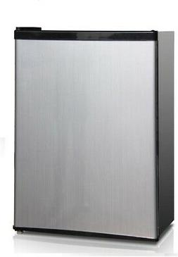 Midea 2.4 CF Compact Refrigerator with Freezer Space, Silver