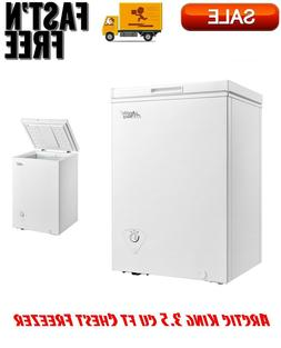 Arctic King 3.5 cu ft Chest Freezer, White, Adjustable Therm