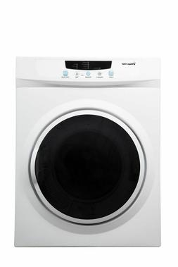 Magic Chef 3.5 cu ft Compact Dryer White Stainless Steel Tub