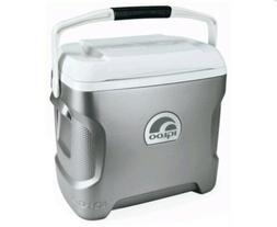 IGLOO 40369 Personal Cooler,Iceless,28 qt.,Silver