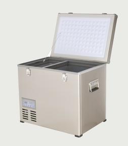 47 QT Portable Chest Freezer & Refrigerator Compact 12V/24V