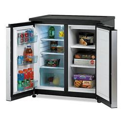 AVANTI 5.5 CF Side by Side Refrigerator/Freezer Black/Stainl