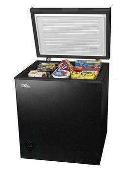 5 Cu ft Chest Freezer Black Large-Capacity Upright Deep gara