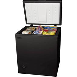 5 cu ft Chest Freezer, Black,large-capacity,Compact, space-s