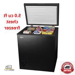 Arctic King 5 cu ft Chest Freezer Storage,Compact Black colo