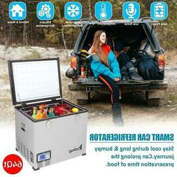 ZOKOP 64QT Compact Portable Freezer Chest Car Fridge 12/24V