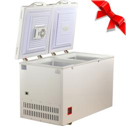 SMAD 7.5 cu ft Solar Fridge Powered DC12V/24V Chest Refriger