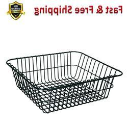 Black Cooler Basket Polyethylene Coated Steel Wire Corrosion