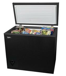 Chest Deep Freezer Compact Dorm Apartment Home Storage Black
