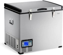 chest freezer 63 quart compressor travel refrigerator