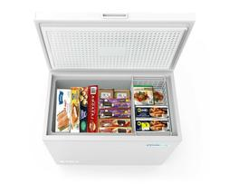 Chest Freezer 7 Cu. Ft. With Adjustable Thermostat For Home/