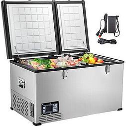 chest freezer deep freezer 85qt portable freezer