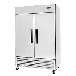 Commercial 2 Door Upright Freezer - KITMA Stainless Steel Si