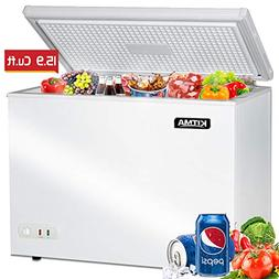 Commercial Top Chest Freezer - Kitma 15.9 Cu. Ft Deep Ice Cr