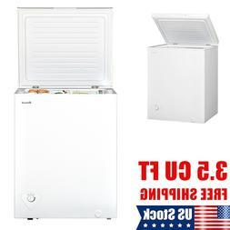 Smad Deep Chest Freezer 3.4 CU FT Upright Fridge Adjustable