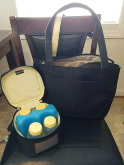 Medela Freestyle Breast Pump Carrying Bag Tote & Cooler Free