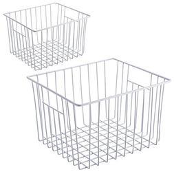 SANNO Freezer Wire Storage Organizer Basket, Household Refri