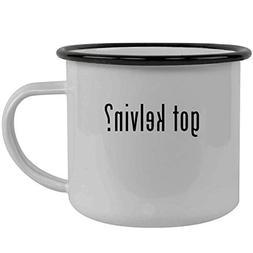 got kelvin? - Stainless Steel 12oz Camping Mug, Black