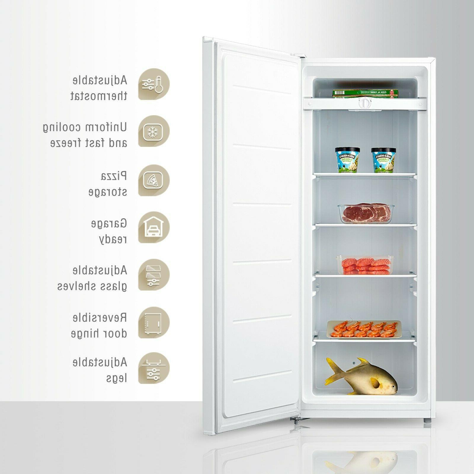 1.1 cu ft Freezer Unit Compact Space Saver White