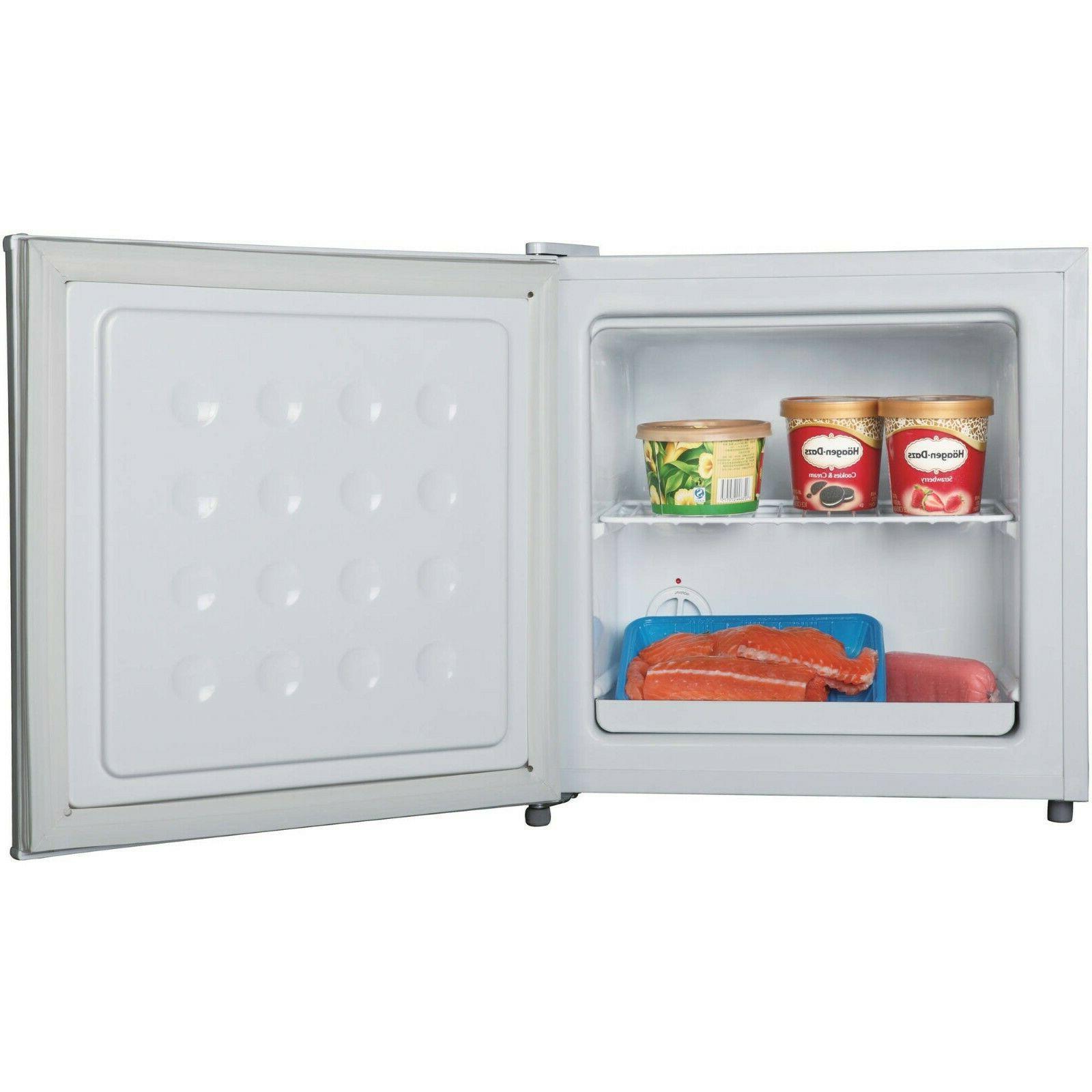 1.1 cu ft Upright Freezer Unit Compact Space Efficient White