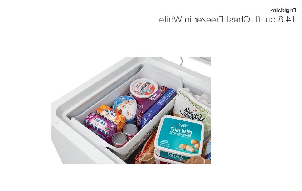 Frigidaire 14.8 cu Deep Freezer Chest in White Pickup