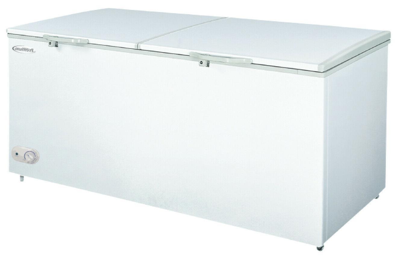 new white double door chest freezer 15