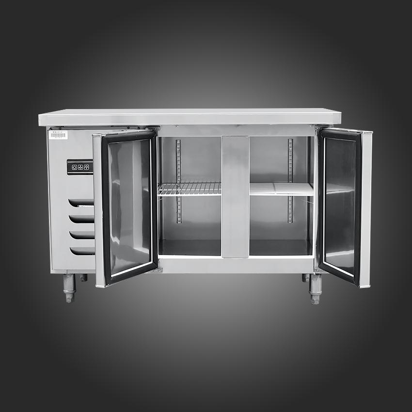 1PC Stainless Steel Kitchen Under-Counter Worktop Commercial Cabinet Refrigerator <font><b>Freezer</b></font> Cooler Fridge Machine
