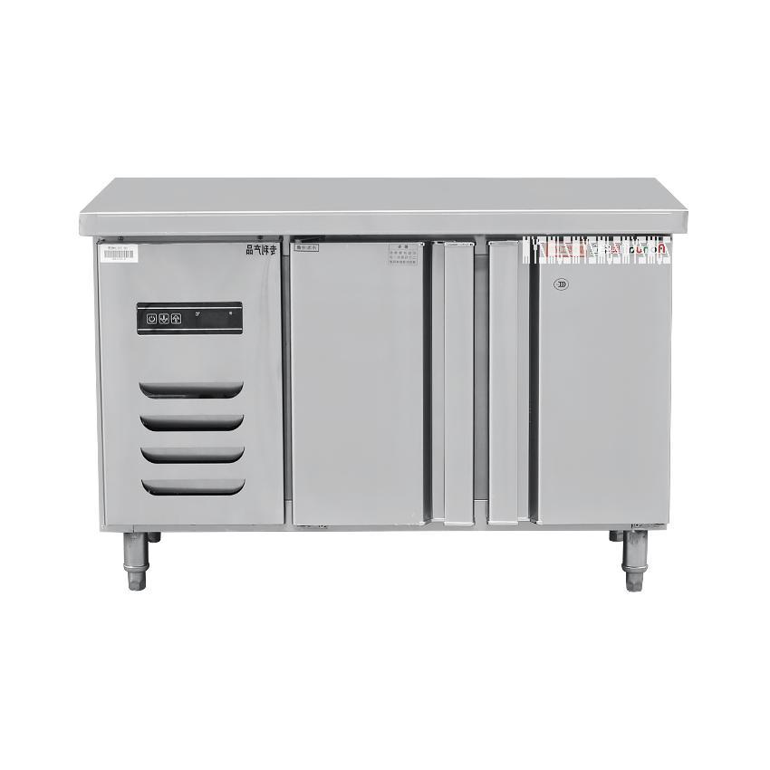 1PC Stainless Steel Under-Counter Worktop Cabinet Refrigerator <font><b>Freezer</b></font> Fridge