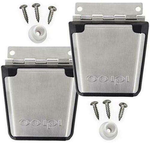 2 new cooler stainless steel latch post