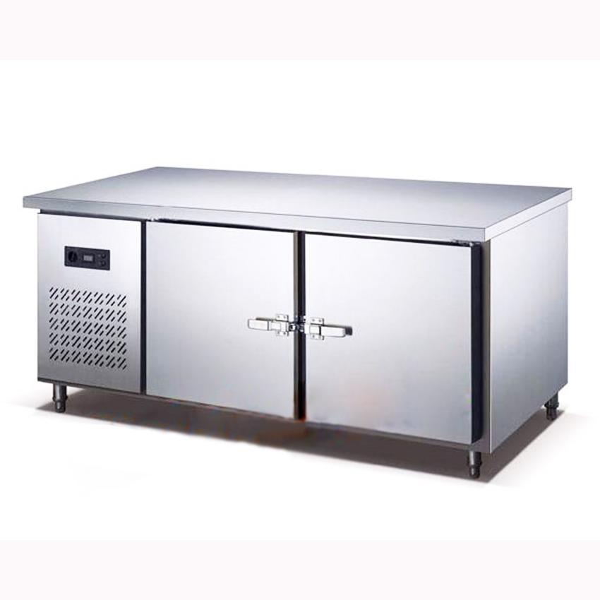 250l kitchen stainless steel under counter refrigerator