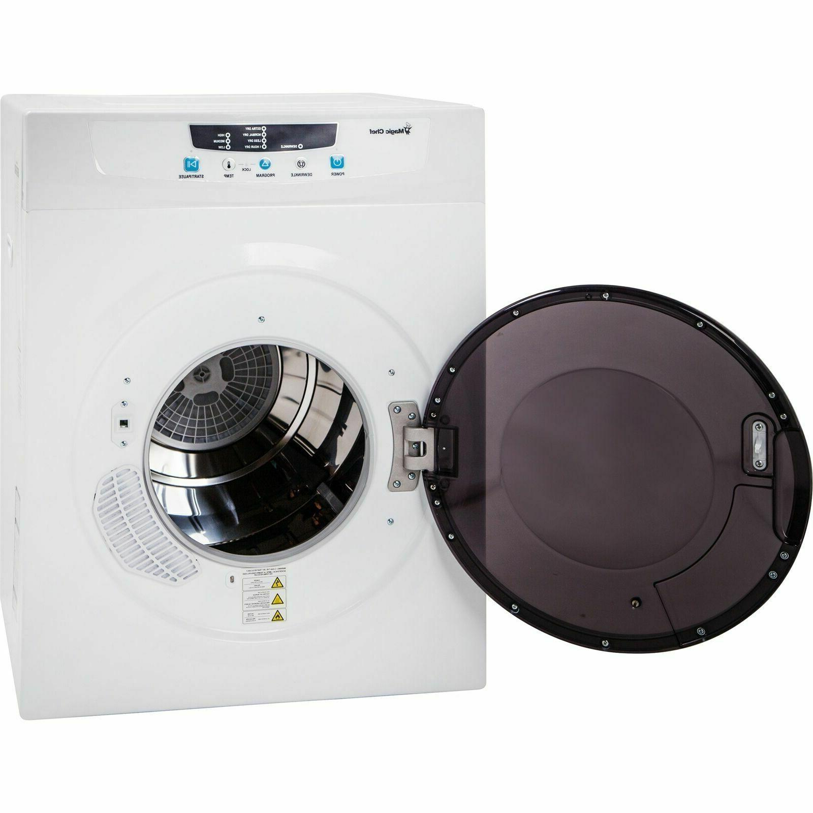 Magic Chef ft Compact Dryer White Stainless Tub Controls