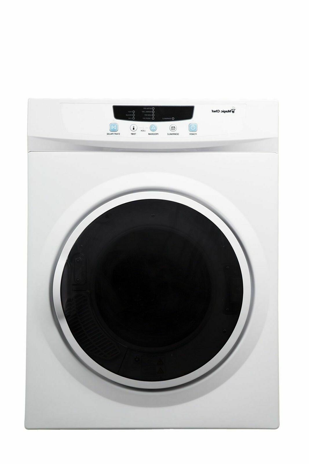 3 5 cu ft compact dryer white