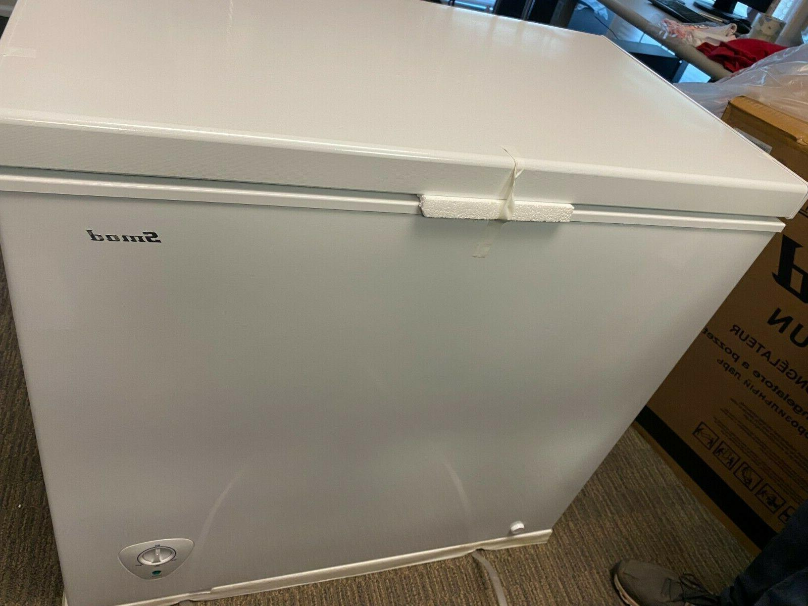 smeta 7 cu ft chest freezer whie