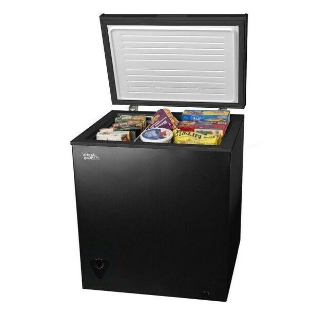 5 cu ft chest freezer black