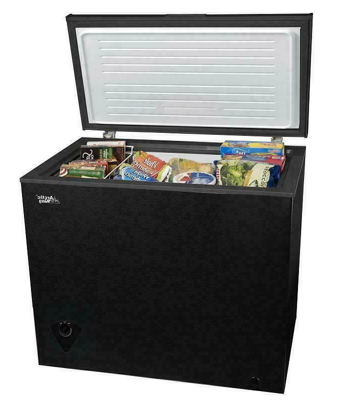 black compact deep chest freezer 7 cu