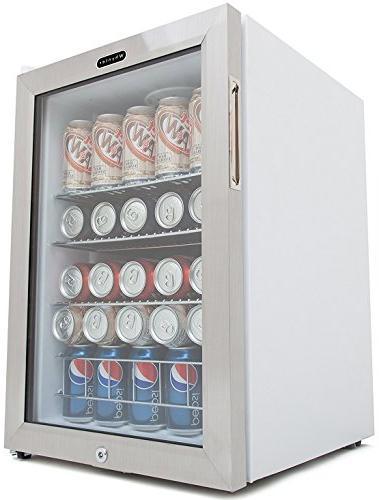 Whynter BR-091WS Lock-Stainless 90 Capacity Beverage Refrigerators, Multi