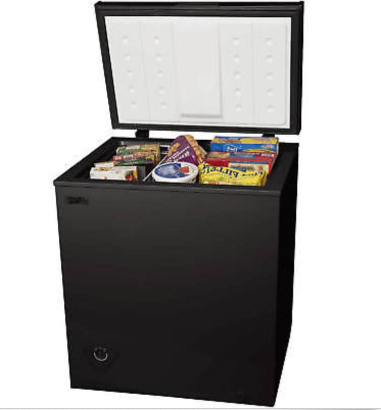 chest freezer 5 0 cu ft black