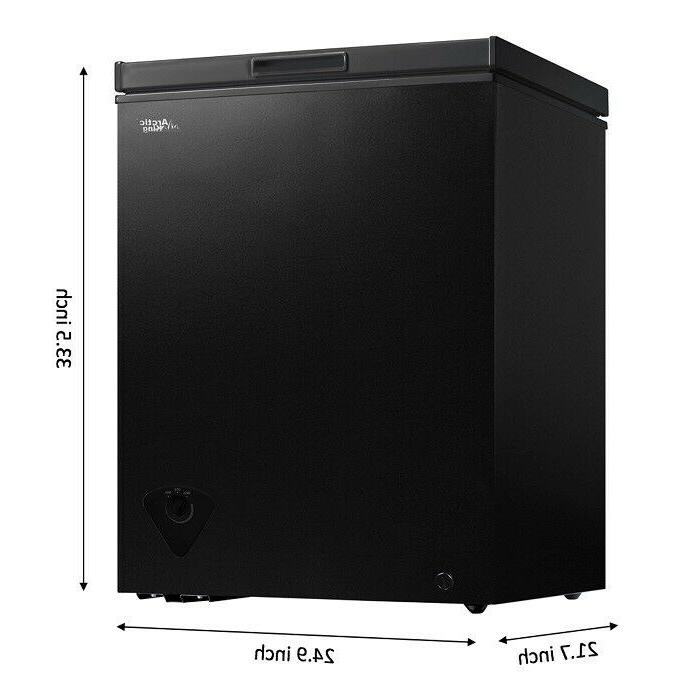 Deep Chest Upright Freezer Storage Defrost 5 Cu Black New