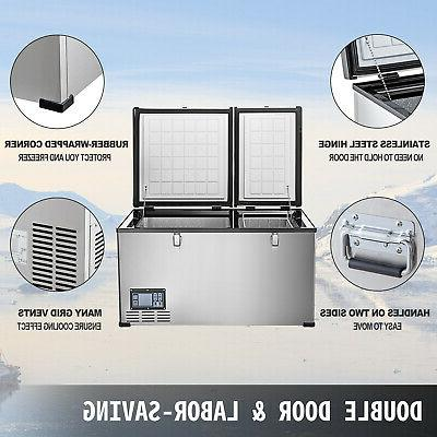 VEVOR Chest Freezer 85QT 2 Doors