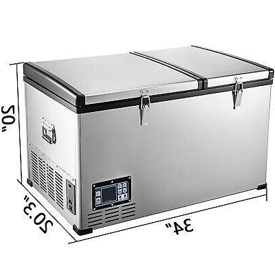VEVOR Freezer Freezer Portable 2 Doors