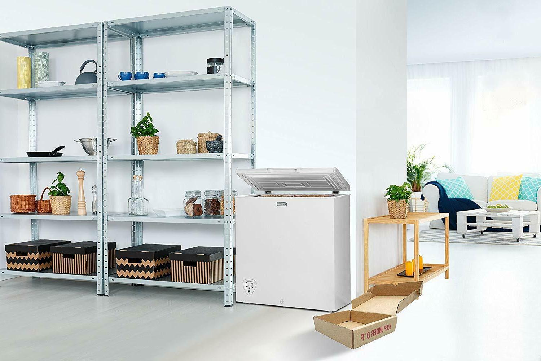 Chest Freezer Storage Deep Freeze Ft Defrost Drain