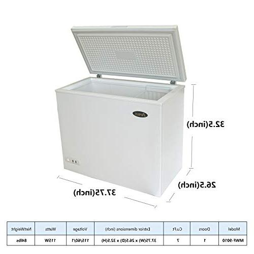 Commercial Chest Freezer - Atosa Cu. Ft Rollers, Solid