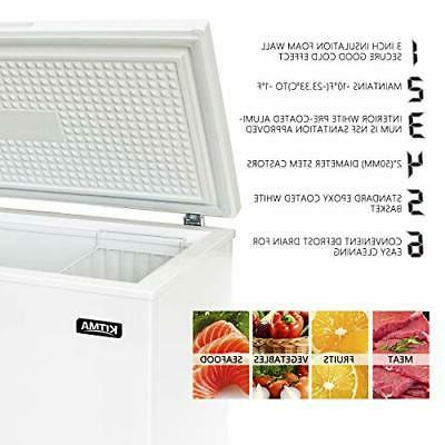 Commercial - Kitma 15.9 Ft Deep Cream Freezer with