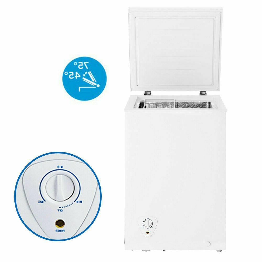 compact 3 4 cu ft chest freezer