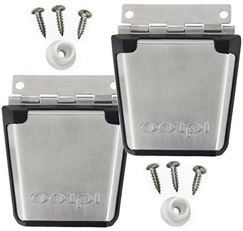 cooler stainless steel latch posts
