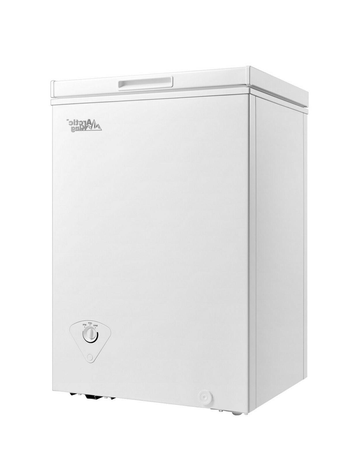 Arctic King 3.5 cu ft Chest Freezer White Adjustable Thermos