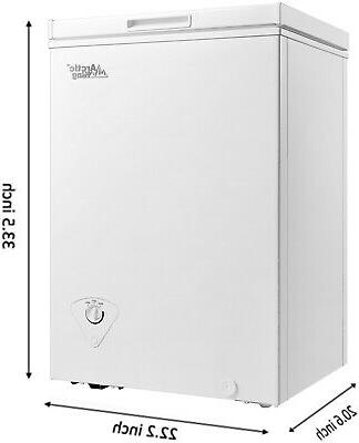 Deep Upright Compact Freezer Storage Home Quick Defrost 3.5 White
