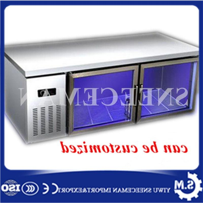 double temperature kitchen stainless steel under counter