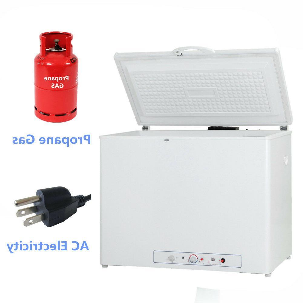 gas compact freezer ac dc